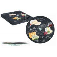 Блюдо стеклянное для сыра (вращающееся) Мир сыров, R2S441/WOCH-AL
