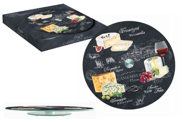 Блюдо стеклянное для сыра (вращающееся) Мир сыров, R2S441_WOCH-AL