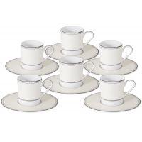 Кофейный набор Жемчуг: 6 чашек + 6 блюдец, NG-I150905B-C6-AL