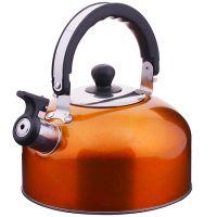 Чайник из нержавеющей стали 2,3 л со свистком без упаковки Mayer&Boch, ВК002ор