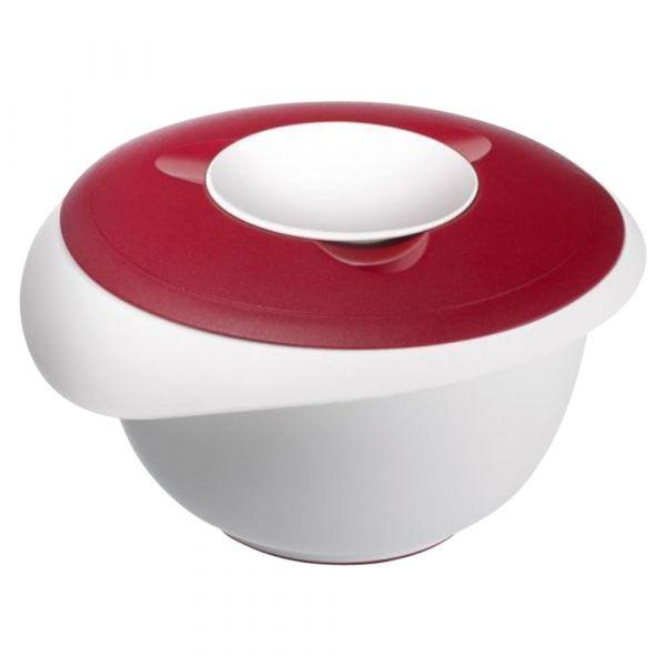 Миска для смешивания с 2-мя крышками 3,0 л, цвет красный, серия Baking, Westmark
