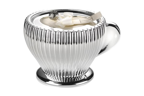 Декоративная свеча CAPUCCINO, белая, A-0.02514