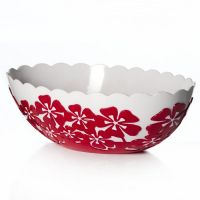 Салатник «Камелия» овальный 1,3 л цвет красный M2015