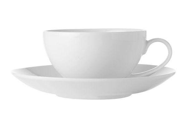 Чашка с блюдцем Белая коллекция без индивидуальной упаковки, MW504-FX0138