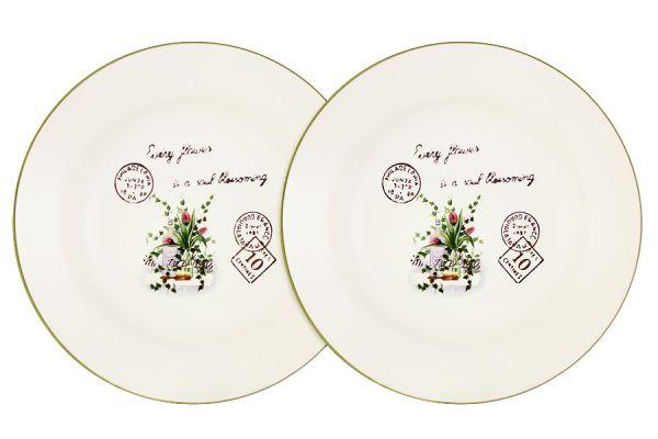 Набор суповых тарелок Anna Lafarg LF Ceramics «Букет» 2 шт AL-80E2256-3-B-LF