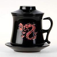"""Подарочный набор """"Дракон"""", 2 предмета (блюдце+кружка, объем 360 мл)"""