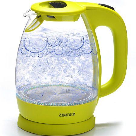 Электрический чайник стекло 1,7л 2200Вт ZIMBER, 11178