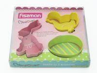 Набор из 3 формочек для вырезания печенья FISSMAN, 8569