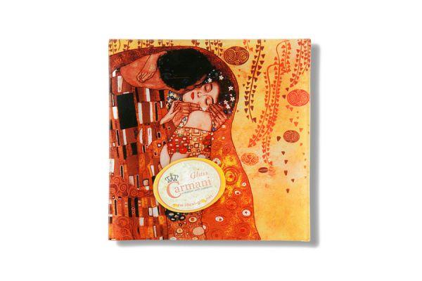 Тарелка квадратная Поцелуй (Г.Климт), CAR198-1241-AL