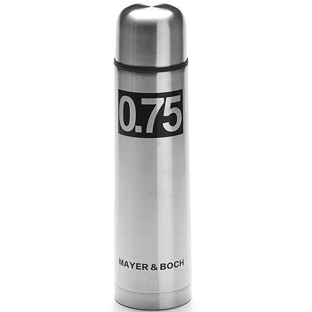 Термос 750 мл из нержавеющей стали, металлическая колба, Mayer&Boch, 27608