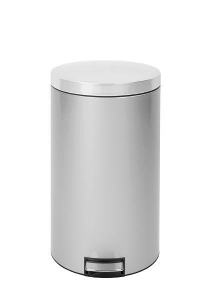 Мусорный бак Brabantia с педалью 45 л цвет серый металлик 428401