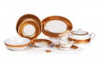 Сервиз столовый 25 пр, Tunisie Porcelaine, серия Didon Orange