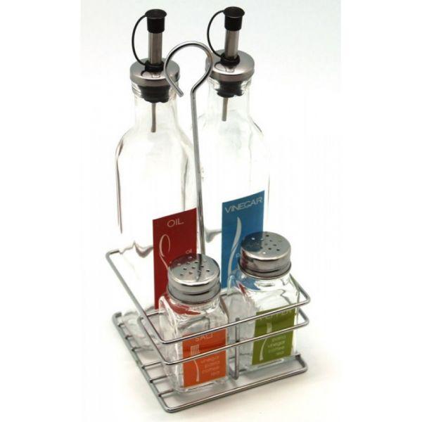 Набор для масла и уксуса HANS & GRETCHEN на подставке 500 г 14QD-4023