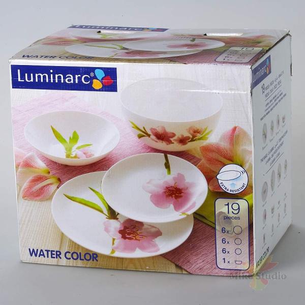 Набор столовый Luminarc УОТЕР КОЛОР 19 предметов E4905