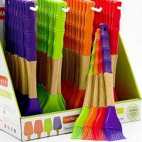 Кисточка с ручкой из силикона и бамбука фиолетового цвета Mayer&Boch, 23164N1