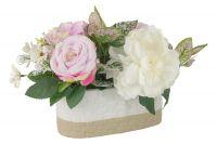 Декоративные цветы Dream Garden Пион и гортензии в керамической вазе DG-J7214