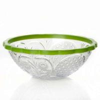 Салатник «Хрусталь» 500 мл цвет прозрачно-зеленый M5435