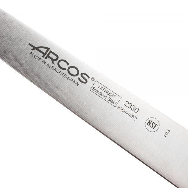 Нож кухонный для резки мяса ARCOS Riviera Blanca 20 см 233024W