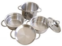 Набор посуды Frabosk Compact, 5 предметов, нержавеющая сталь 869.04