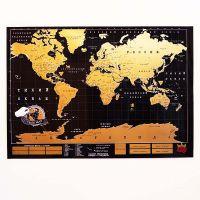 Карта мира true map черная