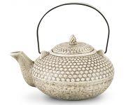 Заварочный чайник 750 мл с ситечком, с металлической ручкой, цвет СЕРЫЙ ПЕСОЧНЫЙ FISSMAN, 9349