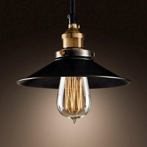 Светильник RESTORATION HARDWARE «Филамент Сингл» 16x27 см цвет золотой с черной отделкой DTL9120