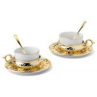 Чайный набор на 2 персоны Stradivari с отделкой под золото в подарочной коробке, GA6207700AL