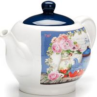 Заварной чайник Loraine «Натюрморт» 950 мл с крышкой 26398