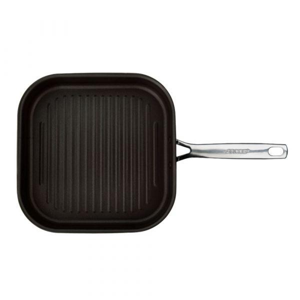 Сковорода гриль ARCOS Forza 28 см, 3-х слойная нержавеющая сталь, с антипригарным покрытием, 713700