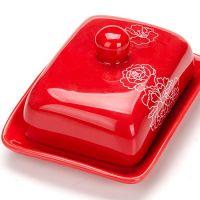 Маслёнка Loraine «Красный узор» 2 л с крышкой 25831