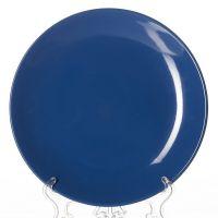 Тарелка синяя, диаметр 25,5 см, высота 2,6 см