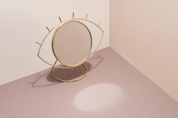 Зеркало настольное Cyclops, золотое DYCYCLOTM