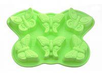 Форма для выпечки 6 кексов БАБОЧКА 32,5*23*3,8 см из силикона FISSMAN, 6660