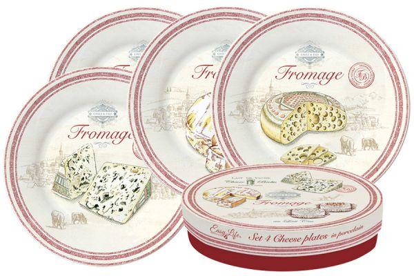 Набор из 4-х тарелок FROMAGE в подарочной упаковке, EL-0463_FRMA