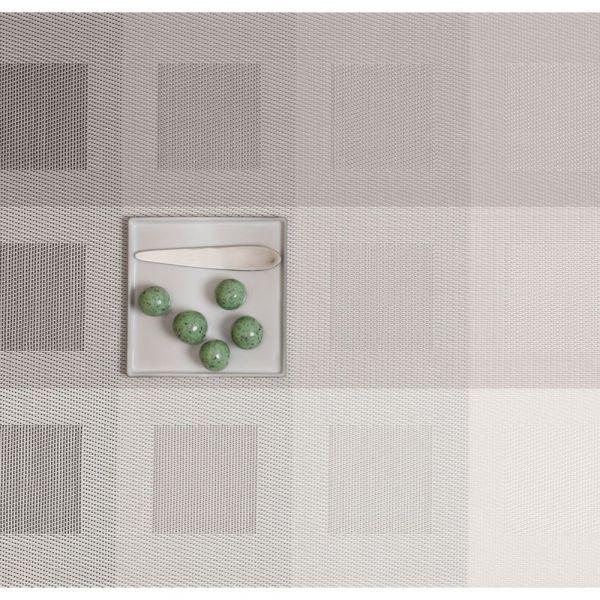 Салфетка подстановочная, плетение «квадраты» 36*48 см CHILEWICH Engineered squares, 0071-ENGS-LTGR