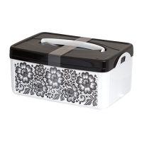 Коробка BYTPLAST универсальная 24,5x16x10,8 см с ручкой и декором B12549