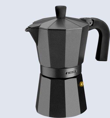 Кофеварка гейзерная на 9 чашек Monix Black