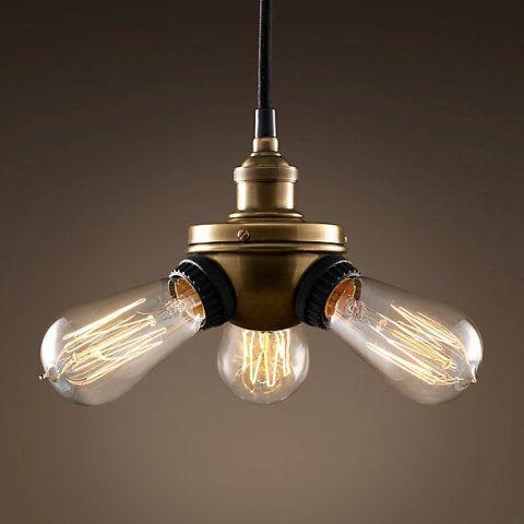 Светильник RESTORATION HARDWARE «Делюкс Трипл» 17x23 см цвет золотой DTL9118