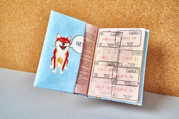 Обложка на паспорт - new sibainu NC-012
