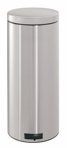 Мусорный бак Brabantia с педалью 30 л 3,5 кг цвет матовый стальной 330865