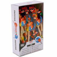 Пики деревянные ПАВЛИНЫ 11 см 100шт (12691)