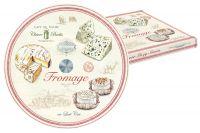 Блюдо стеклянное для сыра (вращающееся) FROMAGE в подарочной упаковке, EL-0441_FRMA