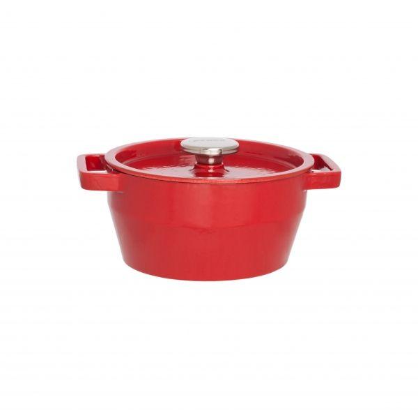 Кастрюля круглая 20 см красная 2,2л