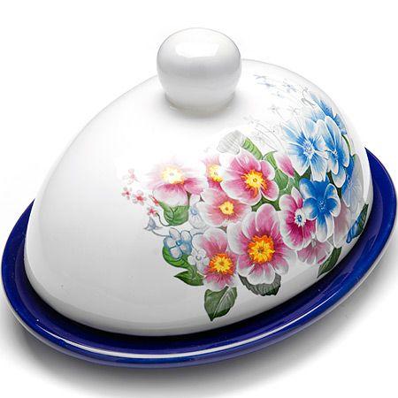 Маслёнка Loraine «Сирень» с крышкой 26159