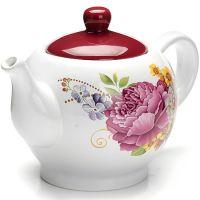Заварочный чайник 950 мл со стеклянной крышкой «Букет» LORAINE, 26226