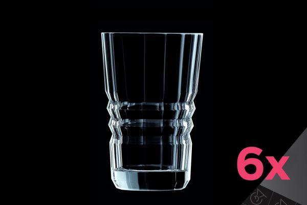 Набор из 6-ти стаканов высоких 360 мл CRISTAL D'ARQUES ARCHITECTE 6 шт, L6586
