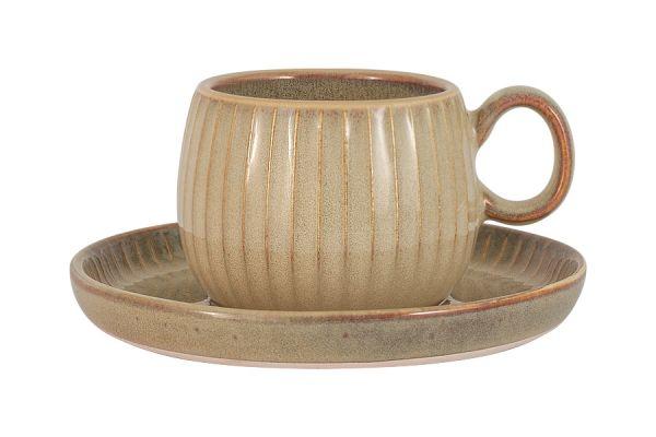 Чашка с блюдцем Comet (песочный) в индивидуальной упаковке, JV-HL863260-BR