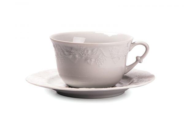 Чашка для завтрака с блюдцем 340 мл, Tunisie Porcelaine, серия VENDANGES