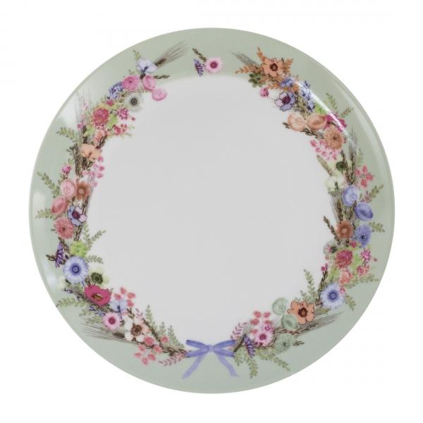 Тарелка обеденная CROWN OF FLOWERS 25 см