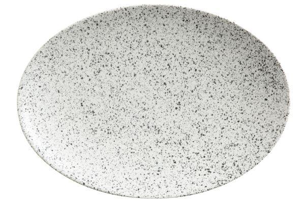 Тарелка овальная (пепел) Икра без индивидуальной упаковки, MW602-AX0174